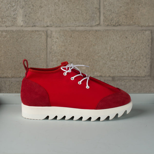 Hender Scheme Nylon Lace Shoes - Red SUPPLIES AND CO