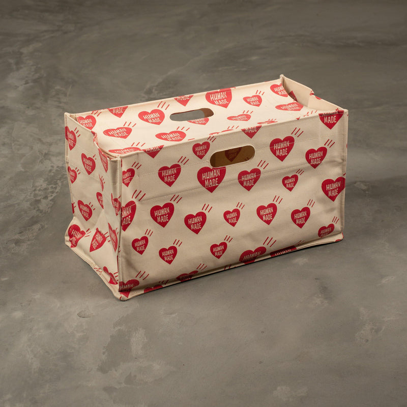 Heart Box Tote Bag - White-Human Made-SUPPLIES & COMPANY