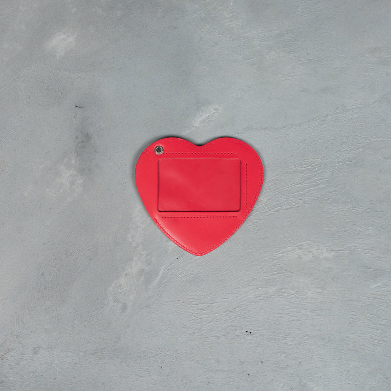 Heart Leather Pass Case - Red-Human Made-SUPPLIES & COMPANY