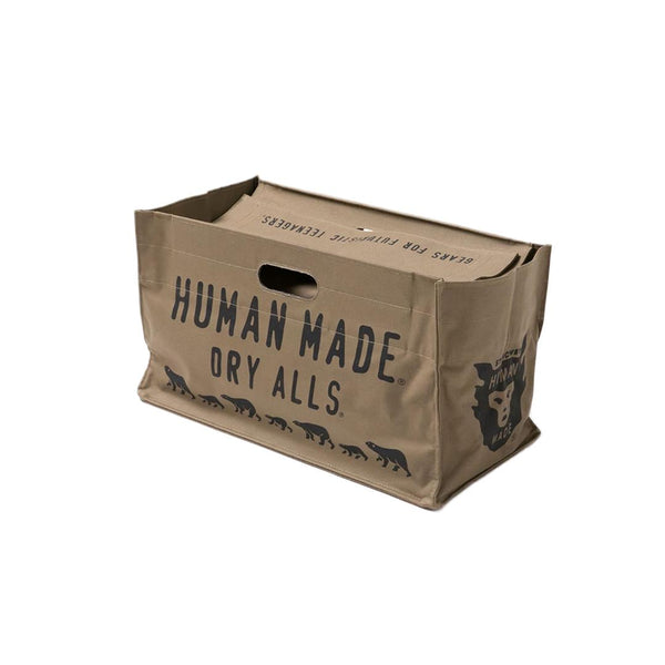 Logo Box Tote Bag - Olive Drab-Human Made-SUPPLIES & COMPANY