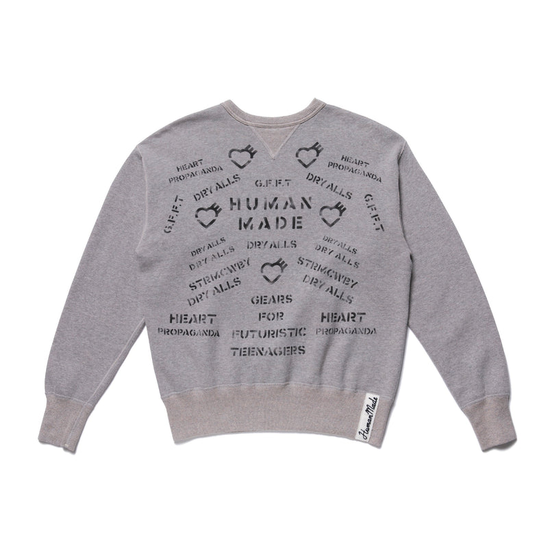 Military Sweatshirt - Grey-Human Made-SUPPLIES & COMPANY