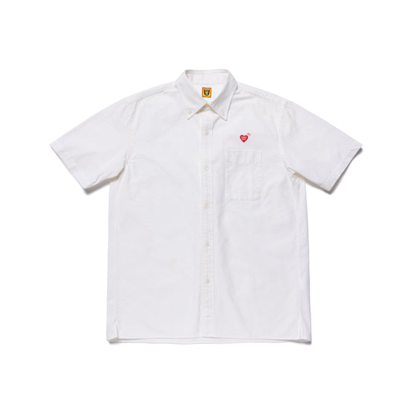 Rip Stop B.D. Short Sleeve Shirt - White-Human Made-SUPPLIES & COMPANY