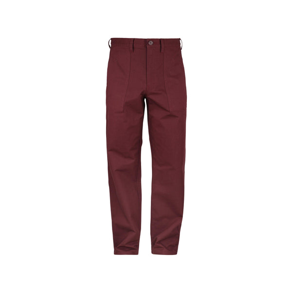 JohnUNDERCOVER Relaxed Fit Trousers (Bordeaux) SUPPLIES AND CO