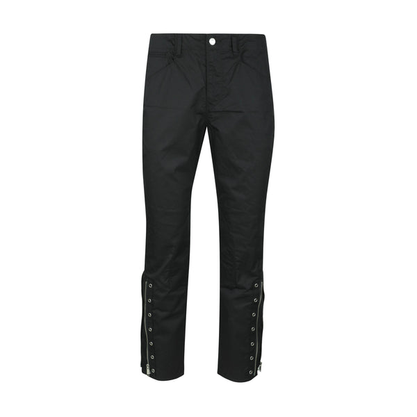 JohnUNDERCOVER Zip Cuff Twill Trousers - Black SUPPLIES AND CO