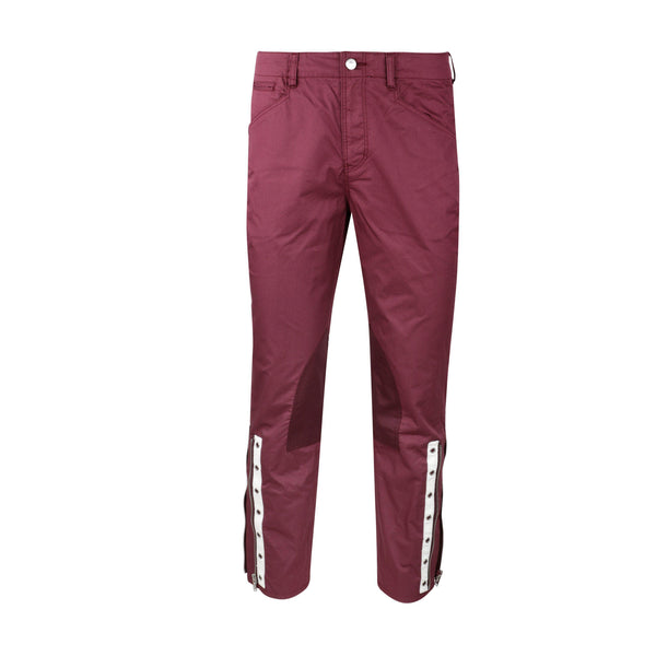 JohnUNDERCOVER Zip Cuff Twill Trousers - Bordeaux SUPPLIES AND CO