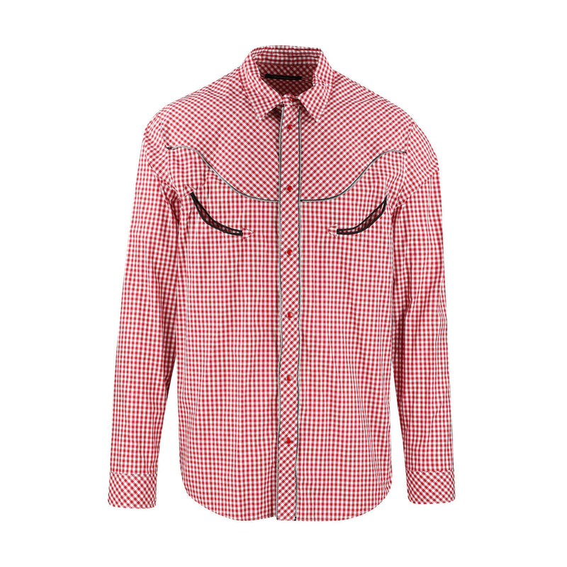 JohnUNDERCOVER Zip Edge Gingham Check Shirt SUPPLIES AND CO