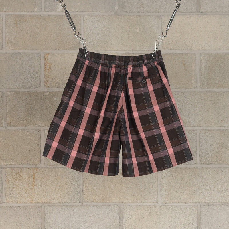 Athletic Wide Shorts - Charcoal Plaid-Kaptain Sunshine-SUPPLIES & COMPANY