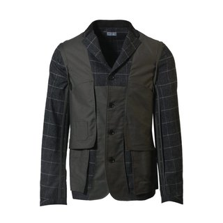 Checked Jacket - Grey