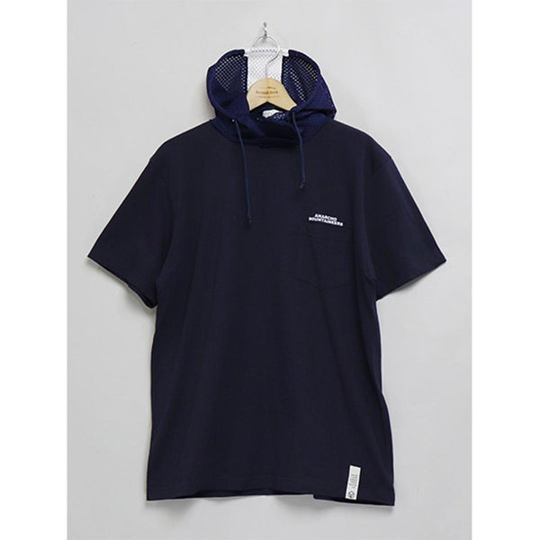 Short Sleeve T-Shirt With Hood - Navy-Mountain Research-SUPPLIES & COMPANY