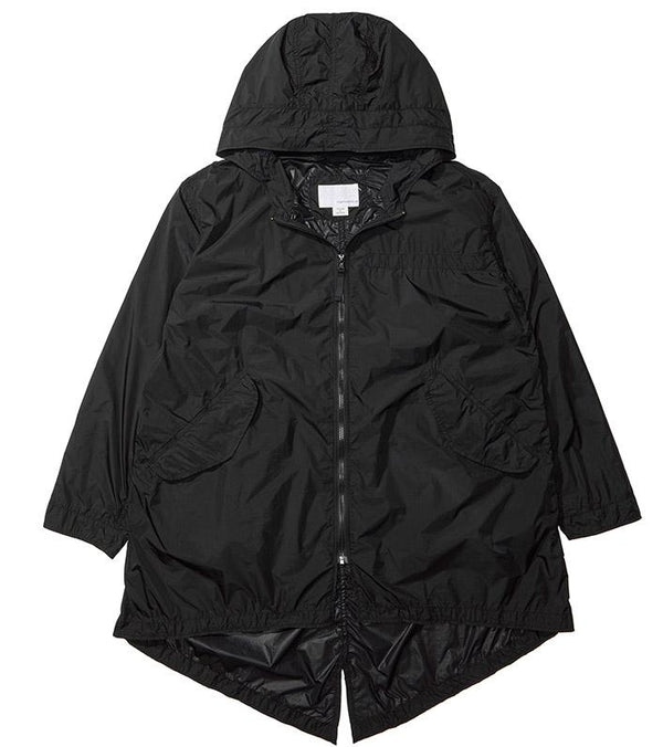 Packable Shell Coat - Black-nanamica-SUPPLIES & COMPANY