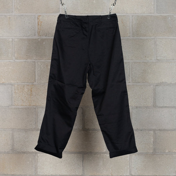 Wide Chino Pants - Black-nanamica-SUPPLIES & COMPANY