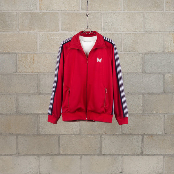 Needles Track Jacket - Poly Smooth - Red SUPPLIES AND CO