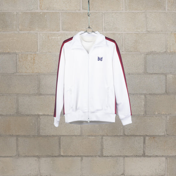 Track Jacket - Poly Smooth - White-Needles-SUPPLIES & COMPANY