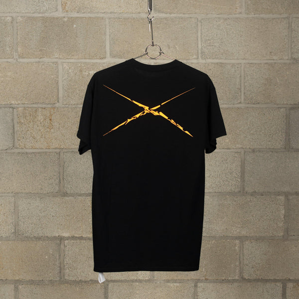 NEXUSVII. 3 Flags T-Shirt - Black / Neon Orange SUPPLIES AND CO