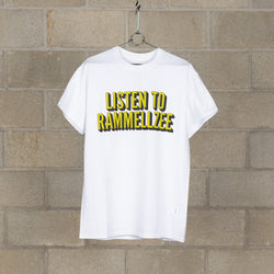Listen To Rammellzee T-Shirt - White / Green-NEXUSVII.-SUPPLIES & COMPANY