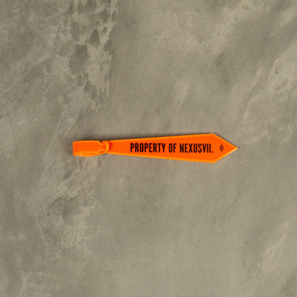 NEXUSVII. Reflective Property Tag - Neon Orange SUPPLIES AND CO