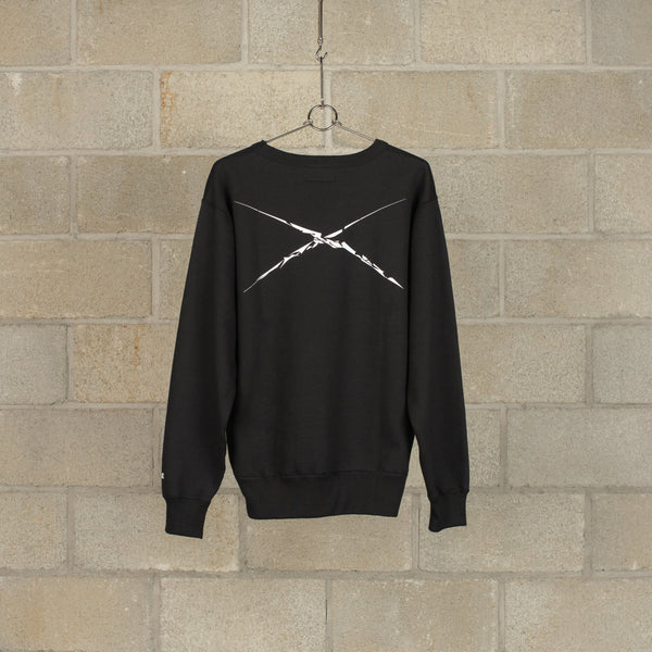 Shadow Mickey Crew Neck Sweat - Black-NEXUSVII.-SUPPLIES & COMPANY