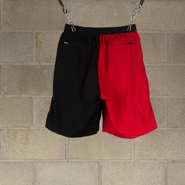 NEXUSVII. SUPPLEX Nylon Bicolour Shorts - Black / Red SUPPLIES AND CO
