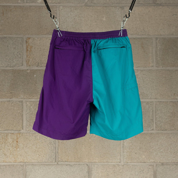 NEXUSVII. SUPPLEX Nylon Bicolour Shorts - Bright Purple / Turquoise SUPPLIES AND CO