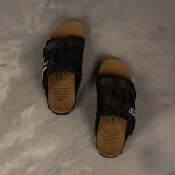 NEXUSVII. Tropical Field Sandals - Black SUPPLIES AND CO