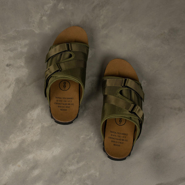 NEXUSVII. Tropical Field Sandals - Olive SUPPLIES AND CO