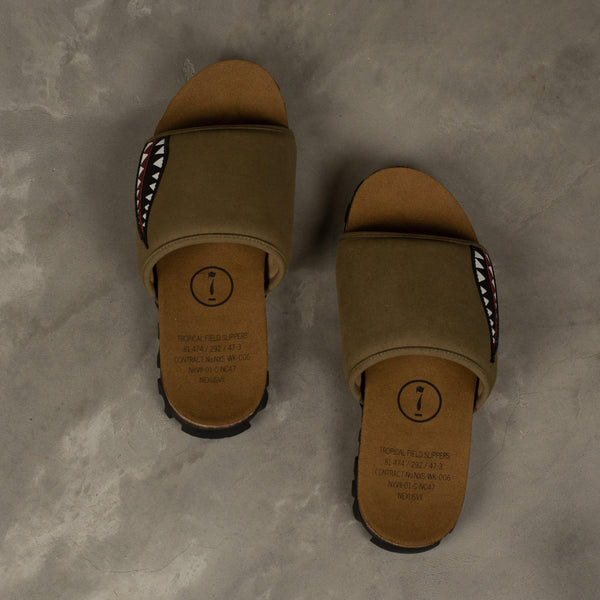 NEXUSVII. Tropical Field Slippers - Olive SUPPLIES AND CO
