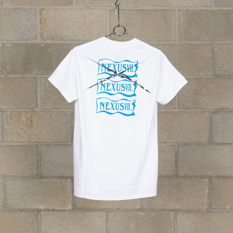 TWO!TWO! T-Shirt - White / Blue-NEXUSVII.-SUPPLIES & COMPANY
