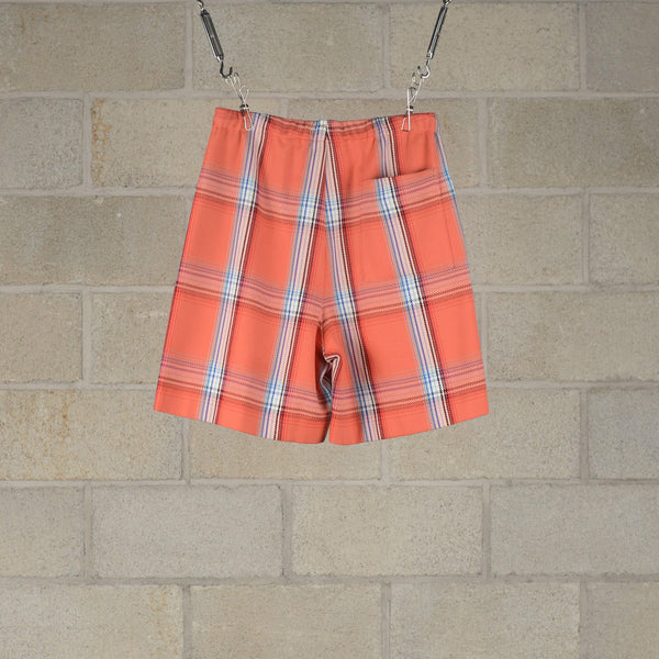 Drawstring Checked Shorts - Orange Check-N.Hoolywood-SUPPLIES & COMPANY