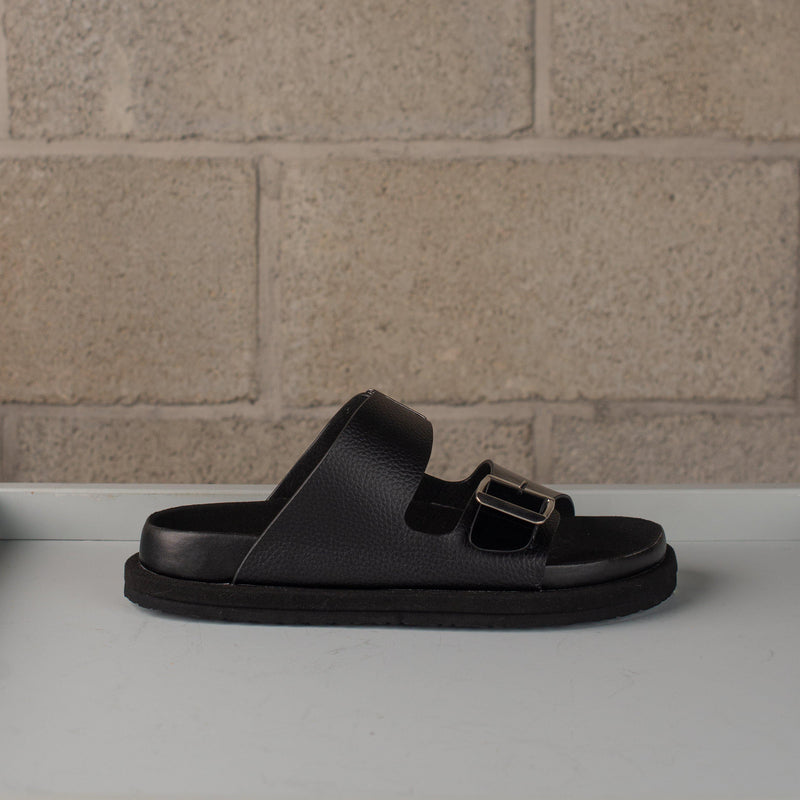 N.Hoolywood Leather Strap Sandals - Black SUPPLIES AND CO