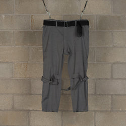Bondage Trousers Modern - Grey-PEEL & LIFT-SUPPLIES & COMPANY