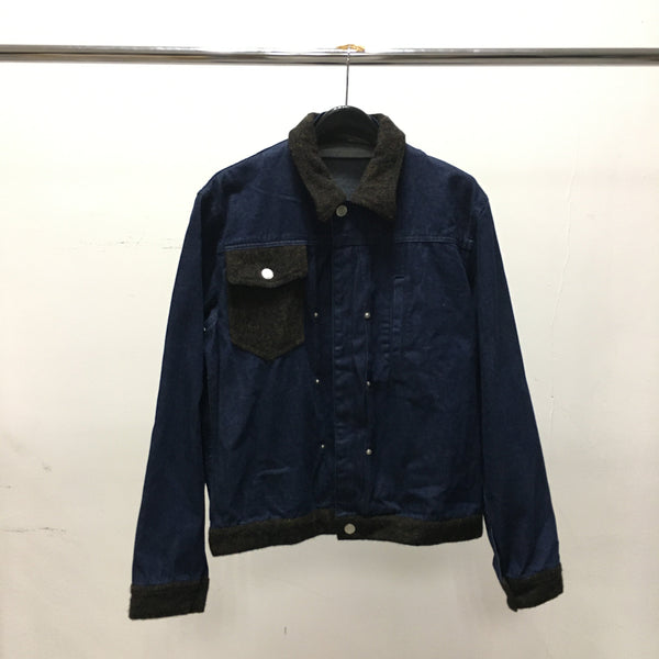 Tweed Colour Jean Jacket-PEEL & LIFT-SUPPLIES & COMPANY