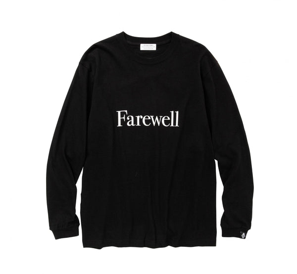 POET MEETS DUBWISE Farewell Long Sleeve T-Shirt - Black SUPPLIES AND CO