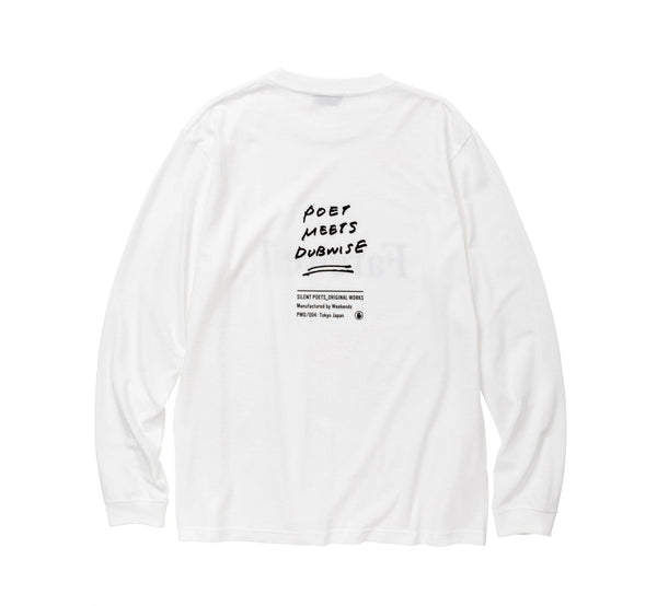 POET MEETS DUBWISE Farewell Long Sleeve T-Shirt - White SUPPLIES AND CO