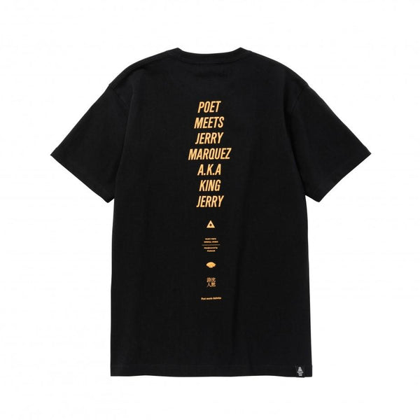 King Jerry Embroidery T-Shirt - Black-POET MEETS DUBWISE-SUPPLIES & COMPANY