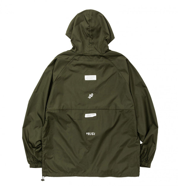 POET MEETS DUBWISE PMD Pull Windbreaker - Olive SUPPLIES AND CO