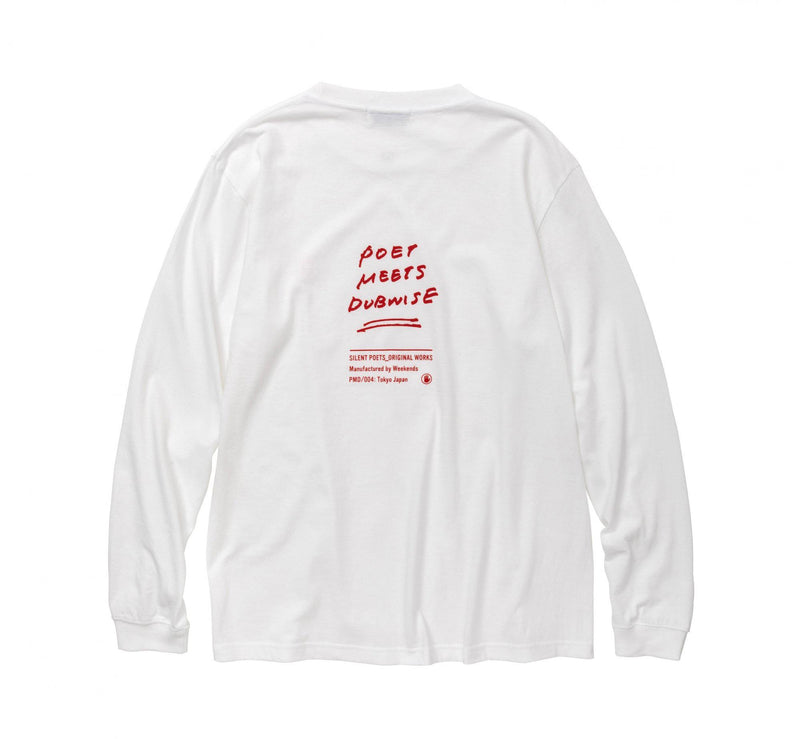 POET MEETS DUBWISE Silent Poets Long Sleeve T-Shirt - White SUPPLIES AND CO