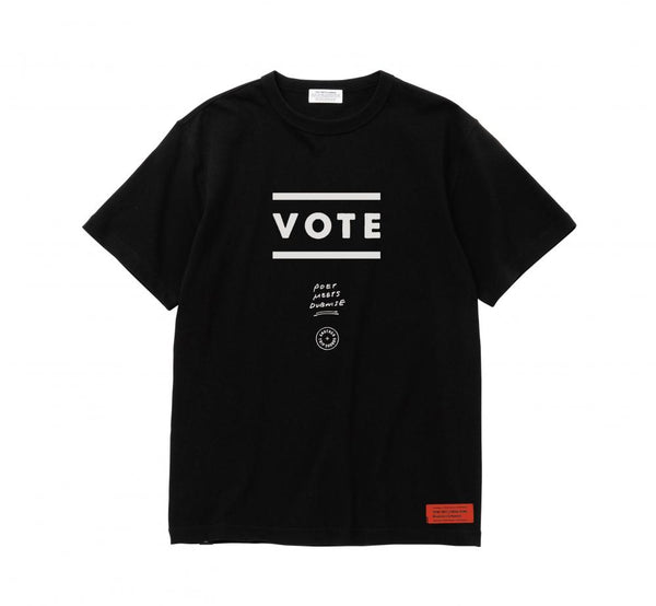 POET MEETS DUBWISE Vote T-Shirt - Black SUPPLIES AND CO