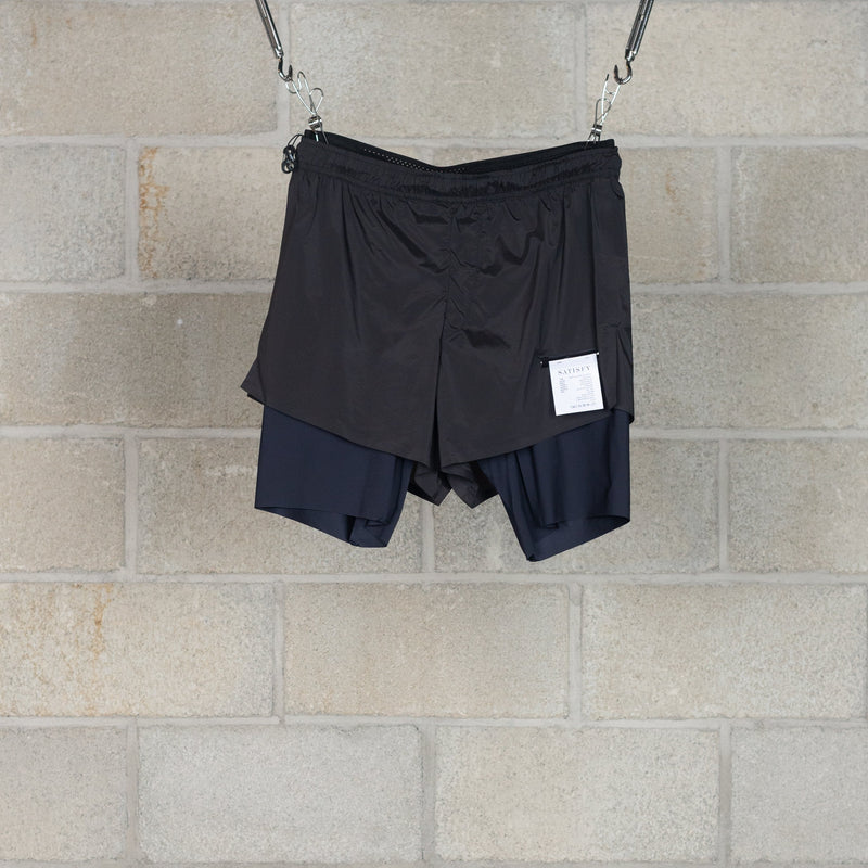 "Short Distance 8"" Shorts - Black Silk-SATISFY-SUPPLIES & COMPANY"