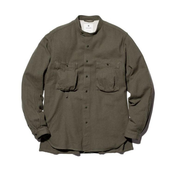 Cotton Silk Serge Shirt - Khaki