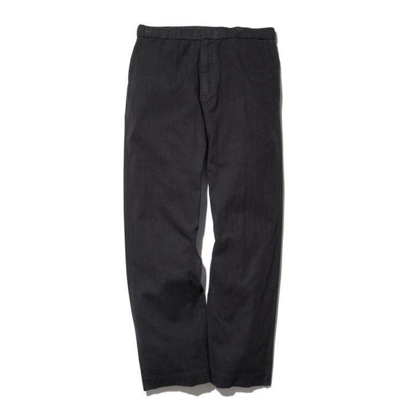 Organic Cotton Suede Easy Pants - Black