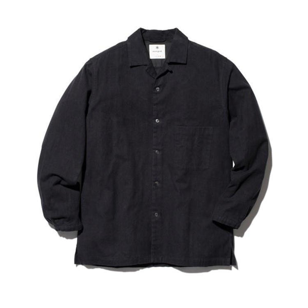 Organic Cotton Suede Shirt - Black
