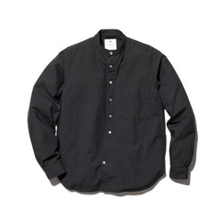 Ultimate Pima Poplyn Stand-collar Shirt - Black