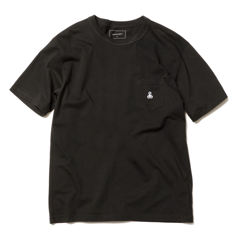 Basic Pocket T-Shirt - Black-SOPHNET.-SUPPLIES & COMPANY
