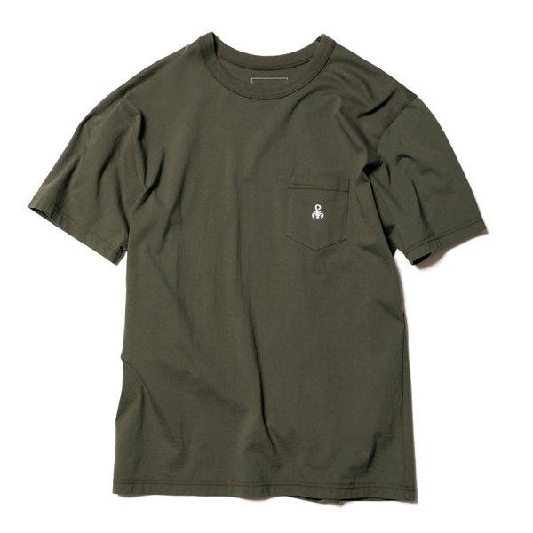 Basic Pocket T-Shirt - Khaki-SOPHNET.-SUPPLIES & COMPANY