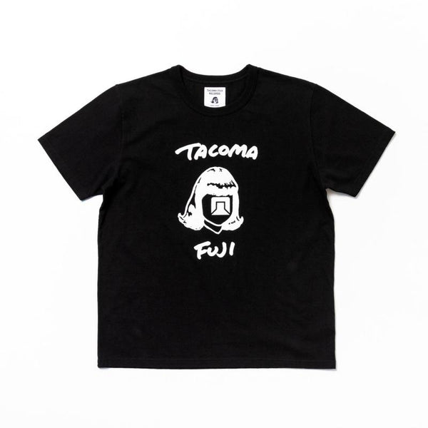 Tacoma Fuji Records TACOMA FUJI HANDWRITING LOGO T-Shirt - Black SUPPLIES AND CO