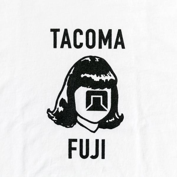 Tacoma Fuji Logo Mark Long Sleeve T-Shirt - White-Tacoma Fuji Records-SUPPLIES & COMPANY