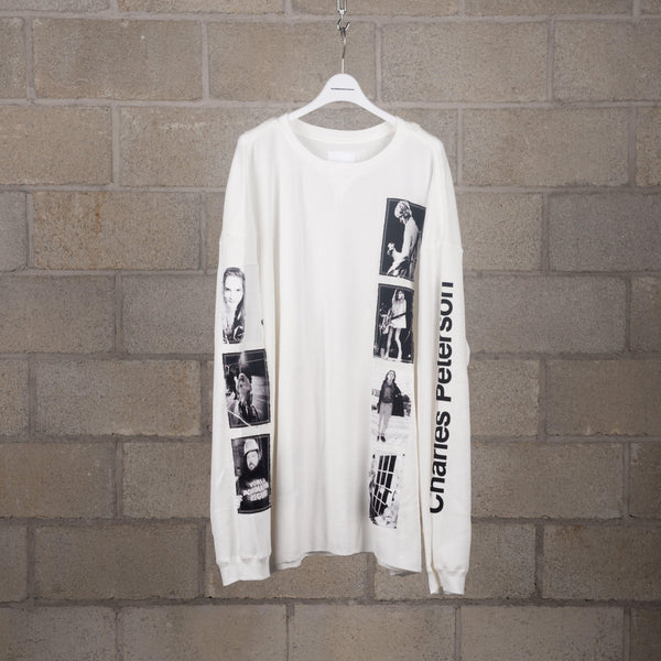 TAKAHIROMIYASHITA The Soloist. sc. 0024a Oversized Printed Jersey Long Sleeve T-Shirt SUPPLIES AND CO