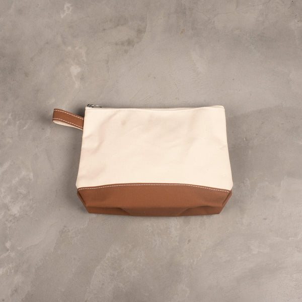 Toiletry Bag (Large) - Natural / Moka-Brown-TEMBEA-SUPPLIES & COMPANY