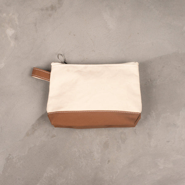 Toiletry Bag (Medium) - Natural / Moka-Brown-TEMBEA-SUPPLIES & COMPANY