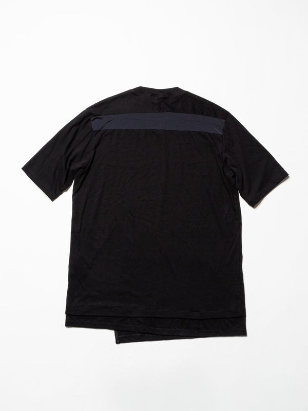 Cordura Nylon Switching T-Shirt - Black-The Viridi-anne-SUPPLIES & COMPANY